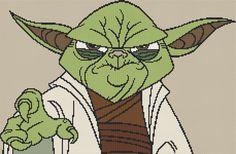 Yoda Cross Stitch Kit - Complete Cross Stitch Kit - Star Wars - Clone Wars on Etsy, $25.87 CAD