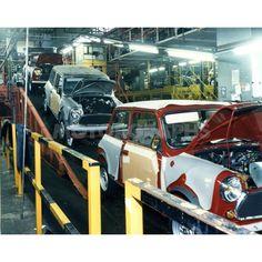 Longbridge Mini photo by Classic Mini, Modern Classic, Classic Cars, Cooper Car, Bike Engine, Datsun 510, Import Cars, Assemblage, Mini Things