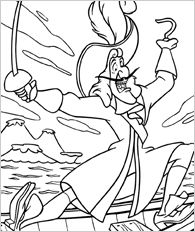 Captain Hook portrait Coloring page DISNEY coloring pages