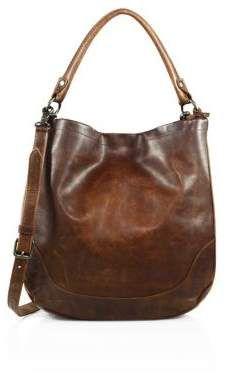 Frye Melissa Leather Hobo Bag. #leatherbags #totebags #bags #shoulderbag