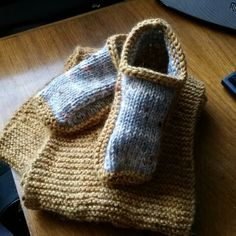 Whipped the slippers up in a few hours, first adult footware