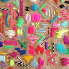 Crochet Festival Beaded and Fringed HandBag - Crochet Loveys Abstract Embroidery, Embroidery Art, Cross Stitch Embroidery, Embroidery Patterns, Contemporary Embroidery, Modern Embroidery, Sewing Crafts, Sewing Projects, Diy Clothes