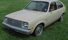 1980 Chevette Scooter--pure white (vs. cream in this pic), NO radio, NO a/c, sticky plastic seats!!