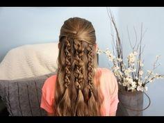 Textured Braids | Half-Up Half-Down Hairstyles