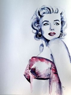 Buy Marilyn, Watercolour by Kovács Anna Brigitta on Artfinder. Discover thousands of other original paintings, prints, sculptures and photography from independent artists.