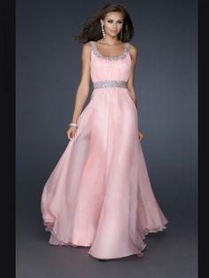 Chiffon A-line Straps Beading Sleeveless Floor-Length Dresses