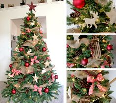 rustic christmas decorations | Christmas Tree Decorating Ideas + A $200 Michael's Gift Card ...