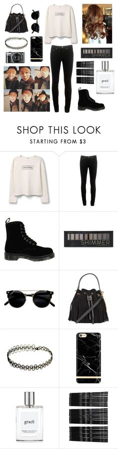 """Aquarium date with Jimin"" by bts-outfit-imagines ❤ liked on Polyvore featuring MANGO, rag & bone, Dr. Martens, Forever 21, Moschino, philosophy and Monki"