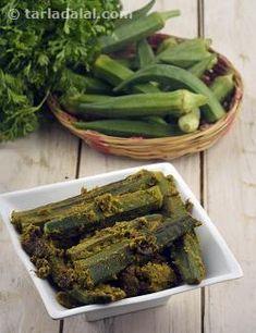 Bhindi Masala recipe   by Tarla Dalal   Tarladalal.com   #22206