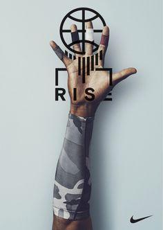Nike Rise Campaign Lock Up Design