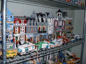 """So, we have a thread on """"How do you display flying ships / mini figures"""" and """"How do you display your mini figures"""" Lego Shelves, Flying Ship, Legos, Building A House, Street View, Display, Floor Space, Lego, Billboard"""