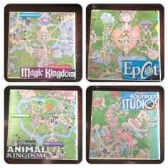 Disney DIY – Make Use Of Those Disney Park Maps With These Easy To Make Coasters!