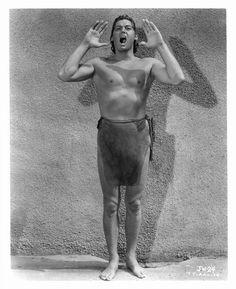 Johnny Weissmuller as Tarzan by Treasures From Paul's Basement, via Flickr