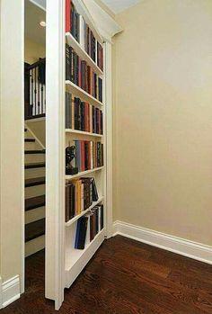 Secret door, bookshelf