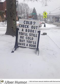 My town's public library has a clever blizzard solution | uberHumor.com