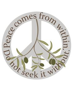 Peace comes from Within 8x10 Typographical by IndelibleInkWorkshop
