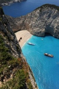 Shipwrek beach, Zakynthos, Greece.Our tips for 25 fun places to visit in Greece: http://www.europealacarte.co.uk/blog/2012/07/31/what-to-do-greece/