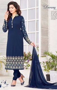 Admirable Navy Blue Ethnic Salwar Suit