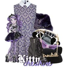 """""""Kitty Cheshire from Ever After High"""" by magykgirlz on Polyvore"""