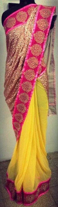 neon yellow n pink!
