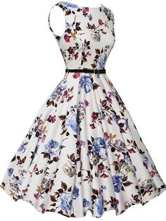 Women Summer Dress 2017 plus size clothing Audrey hepburn Floral robe Retro Swing Casual Vintage Rockabilly Dresses Vestidos Plus Size Dresses, Cute Dresses, Beautiful Dresses, Casual Dresses, Maxi Dresses, Awesome Dresses, Linen Dresses, Elegant Dresses, Casual Outfits
