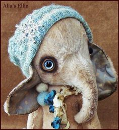 By Alla Bears TINY original 8.25 artist OOAK Vintage by AllaBears on Etsy
