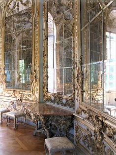 Hall of mirrors at Amalienburg Nymphenburg