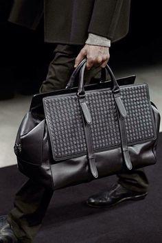 """bottegaveneta: """"A new design for Men: the Monaco bag. See all the looks from Bottega Veneta Men's Fall-Winter show """" Mens Travel, Travel Bag, Ps Wallpaper, Fashion Bags, Mens Fashion, Fashion Menswear, Mode Vintage, Luxury Bags, Dandy"""