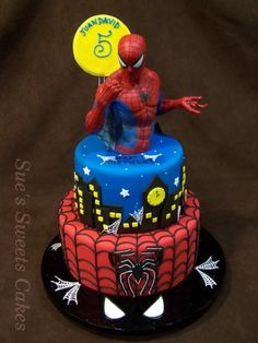 New Jersey Custom Wedding Cakes & Specialty Cakes Spiderman Birthday Cake, Birthday Cakes For Men, Superhero Cake, Birthday Ideas, Cupcakes, Cupcake Cakes, Specialty Cakes, Novelty Cakes, Occasion Cakes