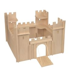 Wooden toy castle for chlidren, Traditonal plain wooden toy castle for imaginative play, children's traditional wooden toy shop Cottage Toys UK Wooden Toy Castle, Wooden Toy Shop, Wooden Toys, Great Little Trading, Castle Crafts, Château Fort, Toys Uk, Toys Shop, Recycling