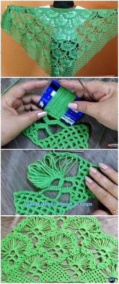 Crochet Turkish Fan Shawl Free Pattern