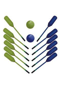 Set Mazaball.  Compuesto por 2 juegos de 6 palos de color distinto más 2 pelota.