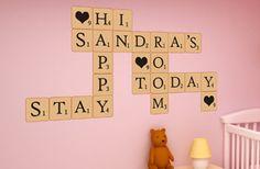 Decoración Scrabble para la pared