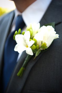 Blue tie, grey suit and white boutonniere. Love it!  Santa Barbara DIY Wedding from Jillian Rose Photography + All You Need Is Love Events from Style Me Pretty  #dawninvitescontest