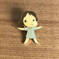 USED Yoshitomo Nara pin badge Pins girl JAPAN Limited WALK ON MOMA RARE! F/S #WALKON