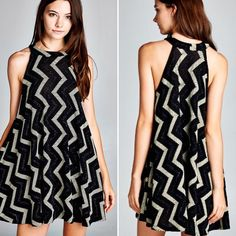 D5145 Semi-loose fit sleeveless round halter neck swing dress. Above the knee length. Has center back seam. This dress is made with medium weight knit fabric with glittered chevron that is soft and drapes well. This fabric has great stretch.  #cherishusa #cherishapparel #shopcherish #fallfashion #fashionbuyer #boutique #fashion #fashiondiaries #instafashion #instastyle #fashionstyle #ootd #fashionable #fashiongram #fallstyle #clothingbrand #fall2015 #fallfashion #dress #dresses #swingdress…