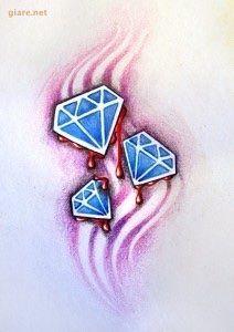 những mẫu hình xăm kim cương đẹp nhất