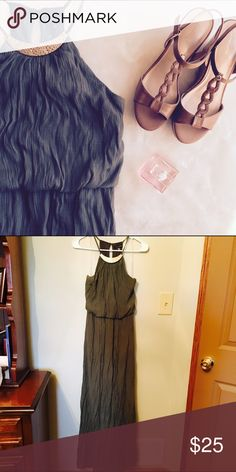 🆕💕AS U WISH LONG OLIVE GREEN DRESS🎀 My sister wore this to a wedding once. It's very beautiful! 🚫No Trades ❤️Condition: Pre-loved, no flaws ❤️Open to reasonable offers ❤️Bundle and save! As U Wish Dresses Maxi