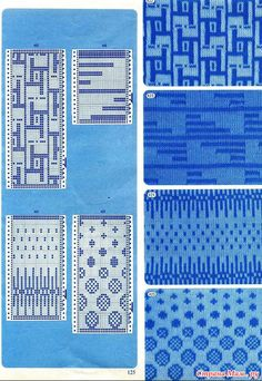 "Photo from album ""Punch Card Pattern on Yandex. Knitting Machine Patterns, Knitting Charts, Knitting Stitches, Tapestry Crochet, Tapestry Weaving, Card Patterns, Stitch Patterns, Fair Isle Pattern, Textiles"