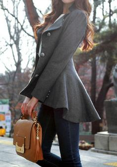 peplum peacoat - Google Search