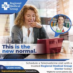 This is the new normal. Schedule a Telemedicine visit with a trusted Regional Medical Group Doctor today! #telemedicine #regionalmedicalgroup