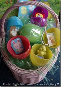 Great ideas to fill plastic eggs for little ones this Easter