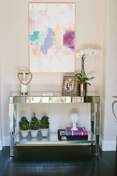 Style Me Pretty Living Los Angeles Home Tour featuring one of my paintings!!!!