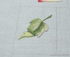 Long and Short Stitch Shading Lesson 9: Leaf with a Turnover