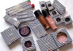 Striped packaging on Hey, Sailor! cosmetics from MAC.