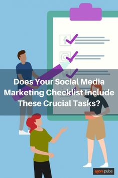 Social media marketing has a ton of moving parts. Worried that you'll forget some of the basics? This social media marketing checklist helps! Trending Hashtags, Call To Action, Digital Media, Social Media Marketing, Encouragement, Forget, Management, Positivity