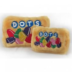 Dots Candy Plush Dog Toy