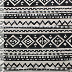 Black Diamond Arrows on Cafe Cotton Jersey Blend Knit Fabric