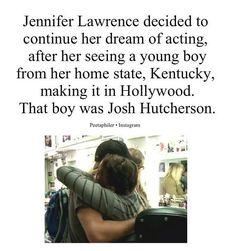Just one of the many reasons Jennifer Lawrence and Josh Hutcherson should get together.