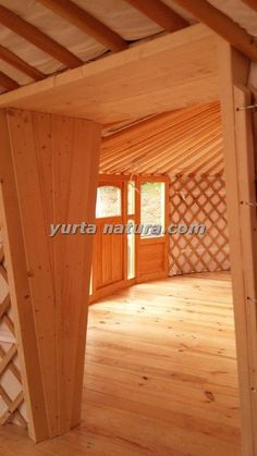 Two yurts connected, thus creating a fantastic large kitchen and dining area for a youth hostel in Waldbrol, Germany. Small Space Living, Tiny Living, Small Spaces, Yurt Home, Yurt Living, Building A House, Building Ideas, Build Your Own House, Round House